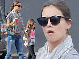 Please contact X17 before any use of these exclusive photos - x17@x17agency.com   Katie Holmes  takes Suri to Sky High Sports where Suri looks a little upset even though she is getting some quality time with her mother  Saturday, November 14, 2015  X17online.com