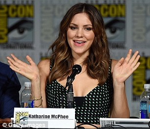 Animated: Katharine seemed to have a blast at the panel event