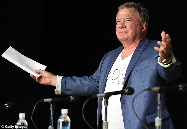 Star's Trek: Legendary TJ Hooker actor William Shatner had travelled all the way to San Diego for the event