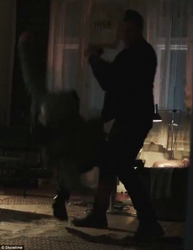 Shadow of night: A man is shown getting knocked unconscious upon entering a home