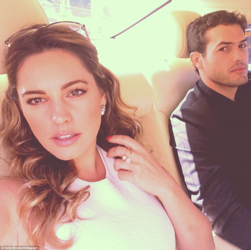 'Wimbledon Here we Come': Kelly Brook spent the day at the sporting event with her handsome boyfriend Jeremy Paris