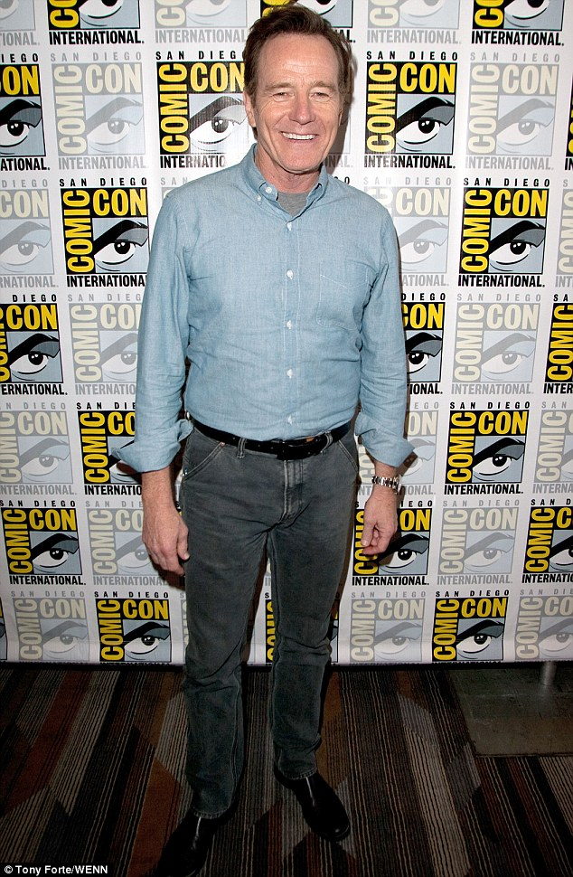 Breaking Bad habits: Bryan Cranston probably wished he had joined in the fun by wearing a Walter White outfit