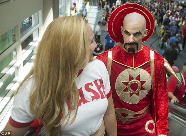 Where's Flash Gordon when you need him: An eccentric fan had dressed up as Ming The Merciless