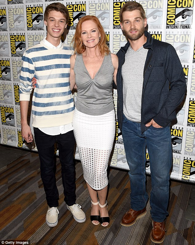 Trio: Colin Ford, Marg Helgenberger and Mike Vogel (pictured from left to right) all star in Under The Dome