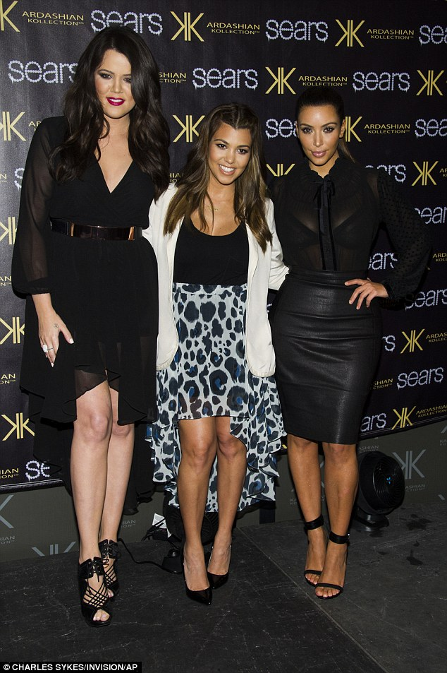 Famous family: The beauty revealed she used to get criticism from others over her weight as the tallest and biggest member of the Kardashian family