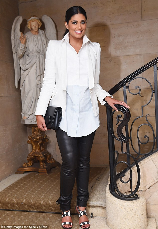Stylish appearance: Fashion designer Rachel Roy attended the Alice + Olivia collaboration with Domingo Zapata CFDA celebration in New York on Tuesday