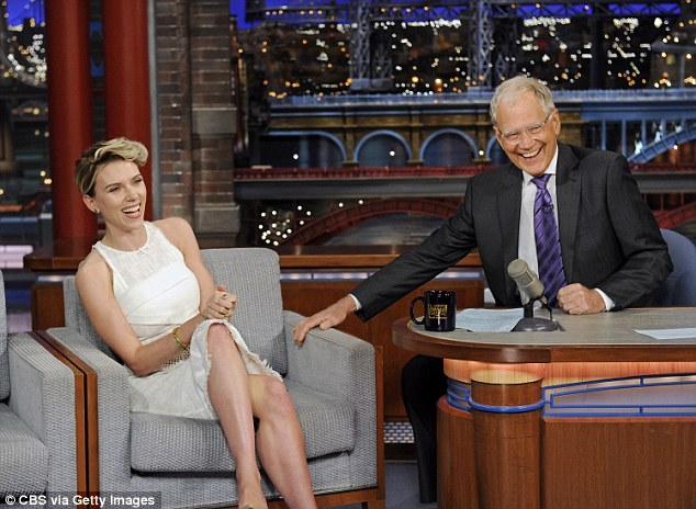 Swan song: Letterman (above withScarlett Johansson) has hosted Late Show since 1993