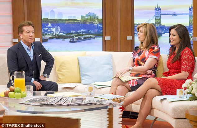 Good spirits: The TV presenters were also joined by GMB regular Ross King