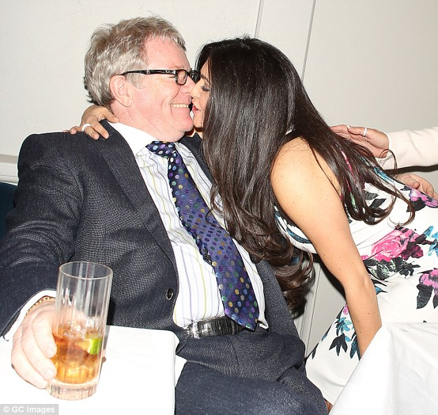 Pucker up: She jokingly leaned in for a smooch with Jim at one point, who appeared to be thrilled