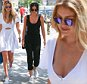 July 10, 2015: Gigi Hadid is spotted in Soho wearing a casual white summer dress while with her friend Leah McCarthy today in New York City. \nMandatory Credit: INFphoto.com Ref: infusny-293