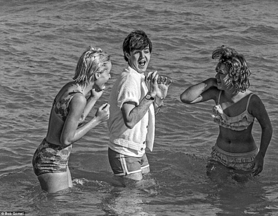 Please please me: It is not known if these ladies were friends of the band or just some lucky Miami beachgoers
