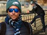 eURN: AD*188229667  Headline: Bradley Cooper Walks Along the Hudson River Caption: November 17, 2015: Bradley Cooper is pictured walking and talking on his phone along the Hudson river in New York City today. Mandatory Credit: Elder Ordonez/Cepeda/NFphoto.com Ref: infusny-160 Photographer: infusny-160 Loaded on 17/11/2015 at 21:38 Copyright:  Provider: Elder Ordonez/INFphoto.com  Properties: RGB JPEG Image (25313K 1926K 13.1:1) 2400w x 3600h at 300 x 300 dpi  Routing: DM News : GeneralFeed (Miscellaneous) DM Showbiz : SHOWBIZ (Miscellaneous) DM Online : Online Previews (Miscellaneous), CMS Out (Miscellaneous)  Parking: