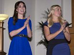 "Catherine, Duchess of Cambridge (L) and TV presenter Holly Willoughby attend The Fostering Network's annual ""Fostering Excellence Award"" to celebrate the achievements of foster carers, young people, social workers, and others within the fostering community in London, November 17, 2015. Her Royal Highness will meet all award winners at a special tea party, and present the ""Fostering Achievement Award"" to three young people. REUTERS/Ian Vogler/Pool"