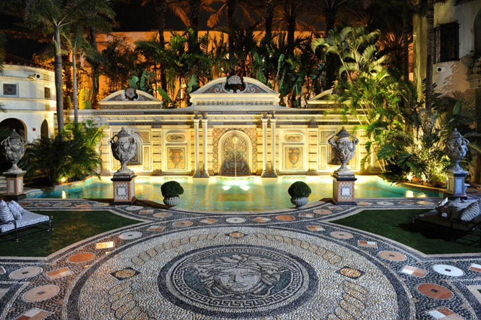 A courtyard at the Villa by Barton G, Miami: the luxurious building, formerly owned by Versace, was bought for$41.5 million