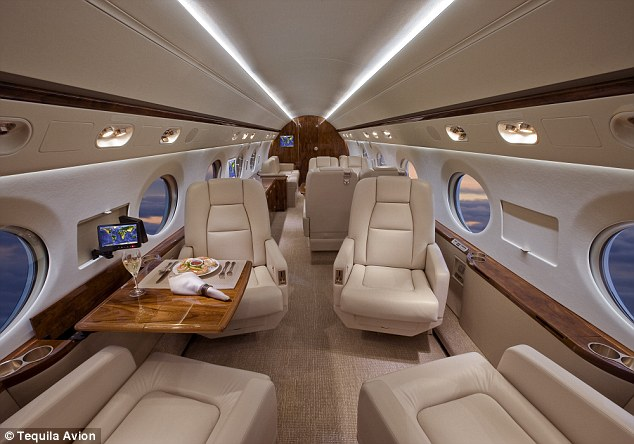 For $500,000 up to 10 people are given a seat on a Gulfstream private jet for the exclusive tasting