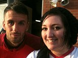 collect pictures of Emma Townley with Dan Seaborne at St Mary's, Southampton