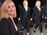 Jennifer Lawrence returns to her hotel in Tribeca following Hunger Games premiere and hanging out at a nearby restaurant with castmates  Pictured: Jennifer Lawrence Ref: SPL1180302  181115   Picture by: BlayzenPhotos / Splash News  Splash News and Pictures Los Angeles: 310-821-2666 New York: 212-619-2666 London: 870-934-2666 photodesk@splashnews.com
