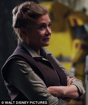 They're back! Carrie Fisher, 58, could be seen back in her role of Princess Leia as Harrison Ford, 72, reprises his role of Han Solo