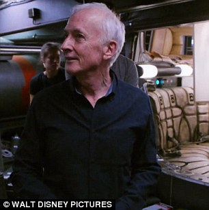 'We're doomed':Anthony Daniels, 69, and his alter-ego C-3PO are both featured in the video