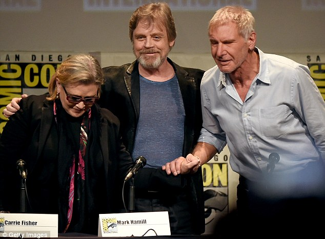 Jedi knights: Star Wars fans will have been having palpitations when the trio reunited on stage