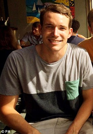 She was discovered with fellow backpacker David Miller (pictured), 24, who had been drowned in shallow water and also had head injuries