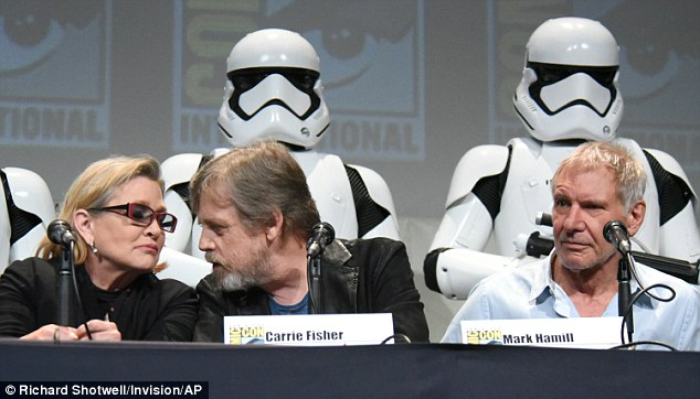 'They were right about the acid flashbacks!' Meanwhile, Fisher - who admitted to using cocaine during Empire Strikes Back - likened Comic-Con to an acid flashback