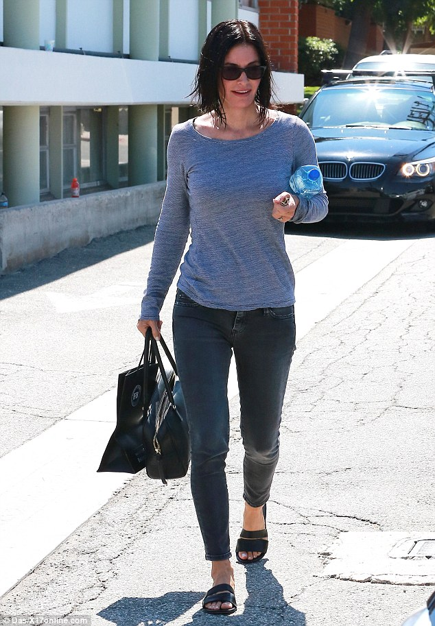 Mother and daughter time: With rumours about her imminent nuptials swirling, Courteney Cox took her daughter Coco out for a pampering session at a spa in Beverly Hills on Friday