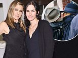 LOS ANGELES, CA - NOVEMBER 18:  Actress Jennifer Aniston, designer Jennifer Meyer and actress Courteney Cox attend Barneys New York, Jennifer Aniston, and Tobey Maguire host a private dinner to celebrate The Barneys New York XO Jennifer Meyer Exclusive RTW Collaboration on November 18, 2015 in Los Angeles, California.  (Photo by Stefanie Keenan/Getty Images for Barneys New York)