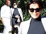 Westlake Village, CA - Kris Jenner and her boyfriend Corey Gamble look very much in love as they film at Four Seasons Hotel Westlake Village. The Kardashian family matriatch wore a grey sweater dress with a pair of knee high black boots and sunglasses. Her considerably younger boyfriend dress comfortably in a grey tracksuit and a pair of Adidas Yeezy Boost shoes.\nAKM-GSI         November 18, 2015\nTo License These Photos, Please Contact :\nSteve Ginsburg\n(310) 505-8447\n(323) 423-9397\nsteve@akmgsi.com\nsales@akmgsi.com\nor\nMaria Buda\n(917) 242-1505\nmbuda@akmgsi.com\nginsburgspalyinc@gmail.com