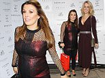 19.11.15....Julie Perry Events and Philip Armstrong Designer threw a client lynch at Rosso Restaurant in Manchester on Thursday afternoon..... Coleen Rooney and Lisa Carrick.