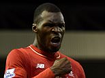 LIVERPOOL, ENGLAND - OCTOBER 25:  (THE SUN OUT, THE SUN ON SUNDAY OUT) Christian Benteke of Liverpool celebrates his goal during the Barclays Premier League match between Liverpool and Southampton at Anfield on October 25, 2015 in Liverpool, England.  (Photo by John Powell/Liverpool FC via Getty Images)