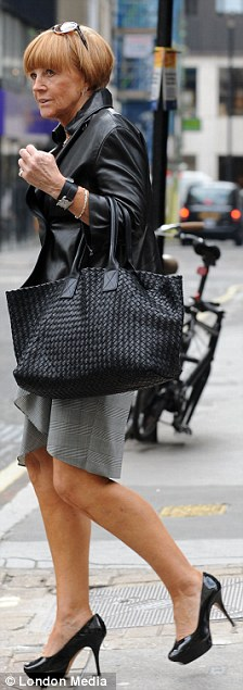 Looking good: What is wrong with a woman like Anne Robinson looking assured and confident, spending her hard-earned money on a Bottega Veneta tote?