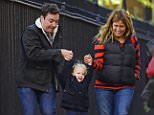 11/18/2015 Exclusive: Jimmy Fallon and wife Nancy Juvonen that a walk with daughter Winnie in New York City. ?The Tonight Show? host looked very much the family man.  Please byline:TheImageDirect.com *EXCLUSIVE PLEASE EMAIL sales@theimagedirect.com FOR FEES BEFORE USE