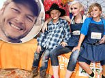 CULVER CITY, CA - OCTOBER 24:  Zuma Rossdale, singer Gwen Stefani and Kingston Rossdale volunteer at the Feeding America Holiday Harvest event at Shawnâs Pumpkin Patch in partnership with the LA Regional Food Bank, supported by Bank of America Charitable Foundation\\non October 24, 2015 in Culver City, California.  (Photo by Rich Polk/Getty Images for Feeding America)