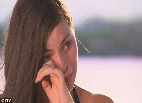 Devastated: Holly Repton also broke down in tears when Kelly Rowland told her she didn't make it into the final