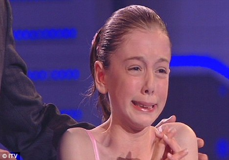 Too much pressure: Hollie Steel broke down two years ago on Britain's Got Talent mid-way through her performance