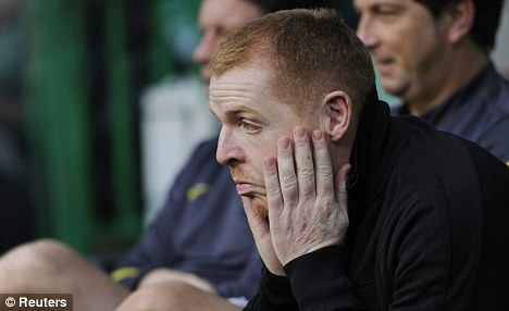 Under pressure: Results at Celtic have put the heat on boss Lennon