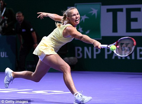Unfazed: Wozniacki is used to the limelight