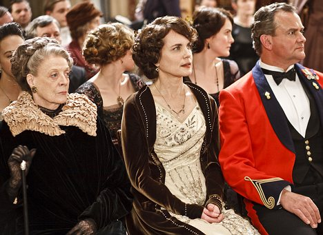 Turning off: Downton Abbey, which stars Maggie Smith, Elizabeth McGovern and Hugh Bonneville, is losing viewers
