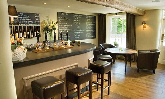 The bar at The Plough
