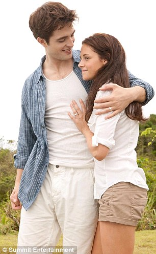 Life imitating art: Kristen and Robert Pattinson, who play Edward and Bella onscreen, are usually coy about their real-life relationship
