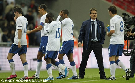 Stalemate: England were held to a 0-0 draw when the two sides last met