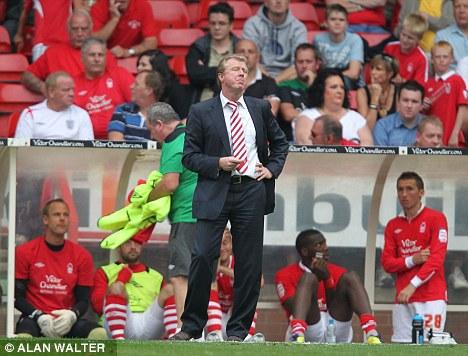 Walking away: Steve McClaren resigned as Forest boss after a dispute over transfers
