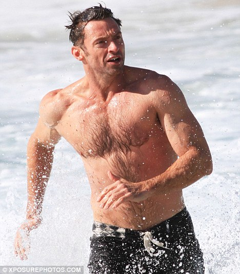 Hugh after a daily 90-minute exercise regime of weights and aerobic activities