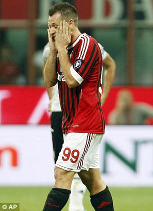 Recovering: Cassano will need a few months off
