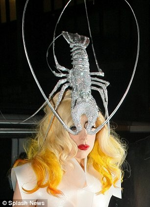 Food for thought: Lady Gaga wore a dramatic diamante lobster hat in London last year
