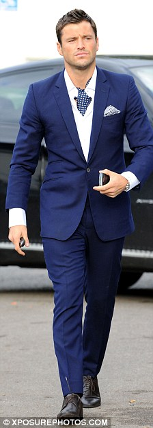 The ladies man has arrived: Mark Wright looked dashing in a blue suit
