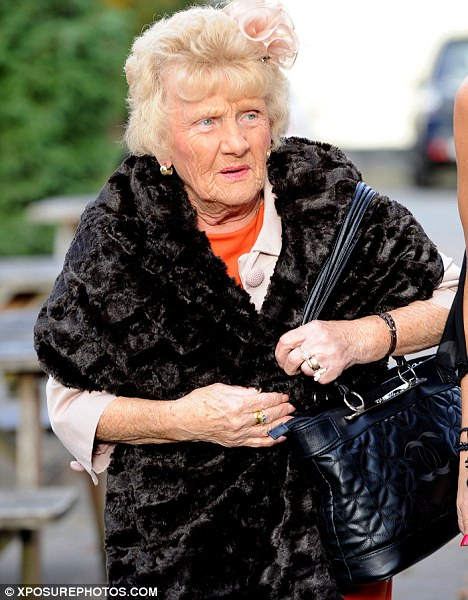 Even Nanny Pat was invited! Mark and Jessica's grandmother wore a fur shawl and a flower in her hair