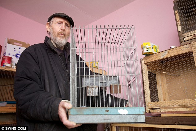 Bird man: Mr Grivelle was ordered to pay almost £1,000 after being prosecuted by the RSPCA, and stole the birds because he refused to go to a pet shop