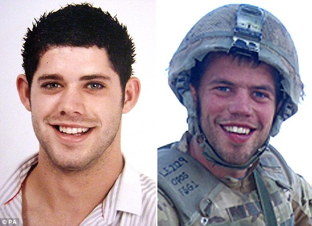 Killed: Private Lewis Hendry, from 3rd Battalion The Parachute Regiment (left) and Private Conrad Lewis, from 4th Battalion The Parachute Regiment, who were shot dead while on patrol in Afghanistan